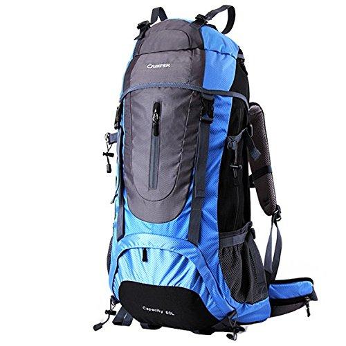 Camping Wandern 60 5L Rucksack Nylon-Rucksack-Beutel fôr das Bergsteigen Reisen Klettern