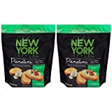 New York Style Garlic Panetini - Oven Baked Italian Toast - 4.75 ounce (Pack of 2)