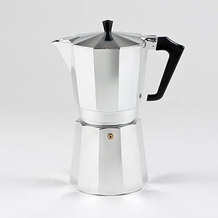 Pezzetti Cafetera italiana, para 1, 2, 3, 6, 9 y 14 tazas, aluminio, plata, 14 Cup: Amazon.es: Hogar