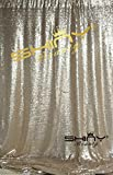 ShinyBeauty Champagne Draping Sequin Fabric Backdrop 120'' x 120'', Handmake Sequin Fabric, Sequin Background-10FTx20FT