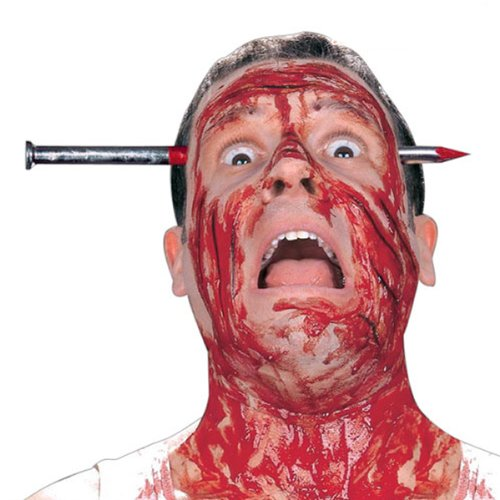 MagiDeal Fake Bloody Nail Through Head Funny Joke Trick Toy Great for Halloween Party