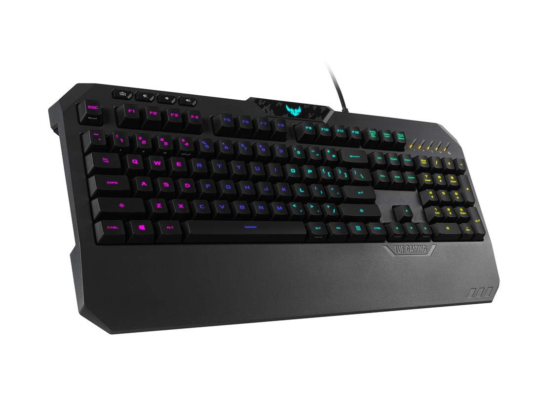 tasti multimediali e poggiapolsi integrato Asus TUF K5 Tastiera Gaming RGB Aura Sync Layout Italiano interruttori tattili Mech-Brane