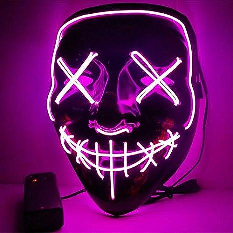 Mascaras con luz led