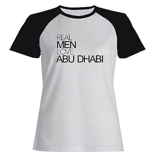 Idakoos Real men love Abu Dhabi - Capitali - Maglietta Raglan Donna