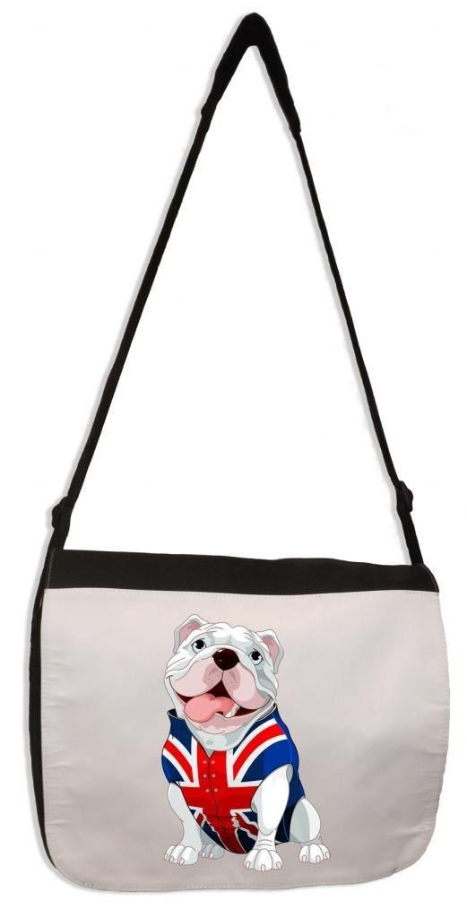 Tribal T-Shirts British Bulldog Union Jack Waistcoat Laptop Messenger Bag