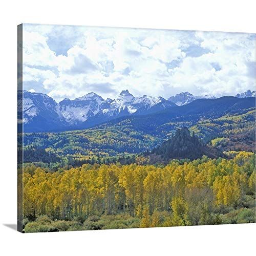- GREATBIGCANVAS Gallery-Wrapped Canvas Entitled Autumn Colors in The Sneffels Mountain Range, San Juan National Forest, Colorado by 48