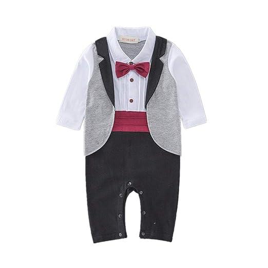 Weentop Traje de Esmoquin para niños pequeños Conjunto Formal de ...
