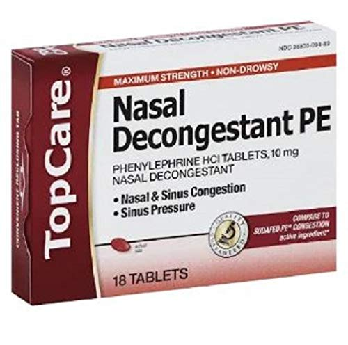 Topcare Nasal Decongestant Pe Tablet, 18 Ct