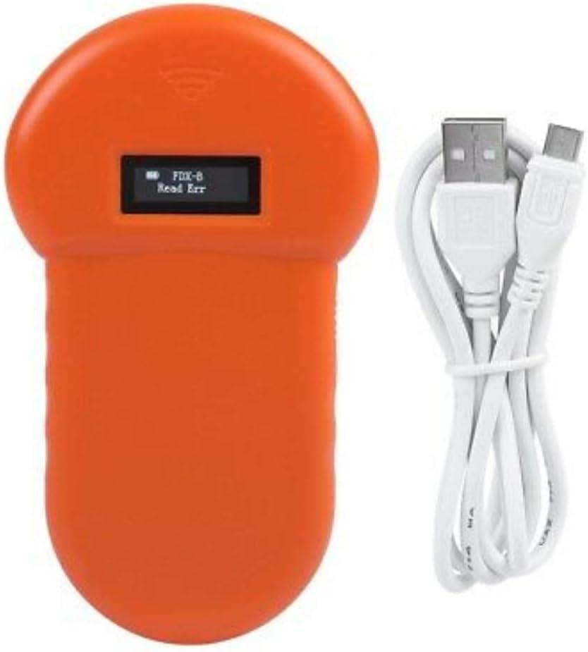 Kecheer Lector de chips animales,Lector para mascotas,Escáner de microchip identificación animal LF 134.2KHz