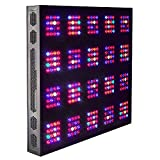 GoGrow G5 Cana Beast Remote Control Dimmable LED Grow Lights 12 Bands Full Spectrum with UV and IR, DE HPS 1000W Replacement