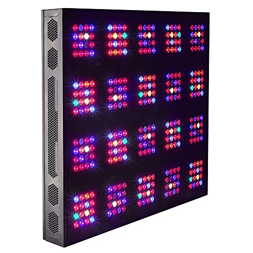 GoGrow G5 Cana Beast Remote Control Dimmable LED Grow Lights 12 Bands Full Spectrum with UV and IR, DE HPS 1000W Replacement Review