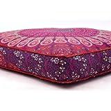 Exklusiver großer Boden Kissen, rund Mandala Werfen, Sitzkissen Outdoor, Cover, Deko Kissenbezüge, Sofa Tag Bett Kinder Teen Boden Kissen von bhagyoday Fashions