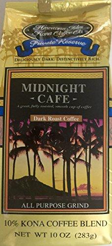 Midnight Cafe Hawaiian Isles Kona Coffee Company 10 oz. bag ground coffee by Hawaiian Isles Kona Coffee
