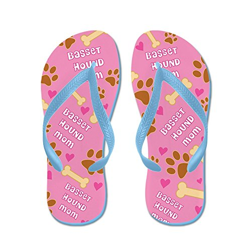 Cafepress Basset Hound Mom Cadeau - Flip Flops, Grappige String Sandalen, Strand Sandalen Caribbean Blue