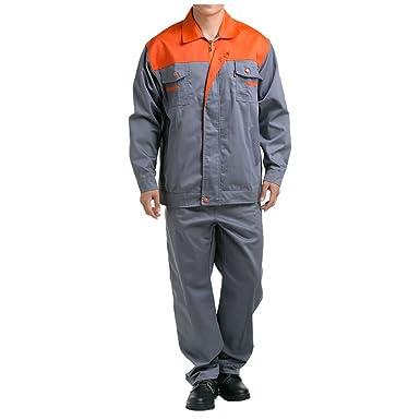 Gris con anaranjado hombro traje chaqueta de trabajo protección uniforme chaqueta soldador soldadura soldador ropa 190: Amazon.es: Ropa y accesorios