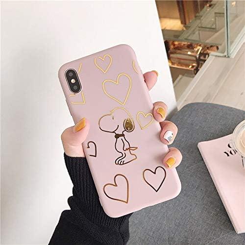 FXILY - Cover per iPhone 6 e 6S, motivo: cartoni animati dorati ...