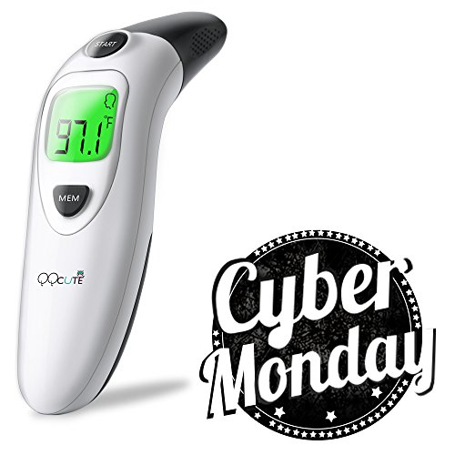 QQCute Digital Medical Infrared Forehead Thermometer Dual Mode (Large Image)