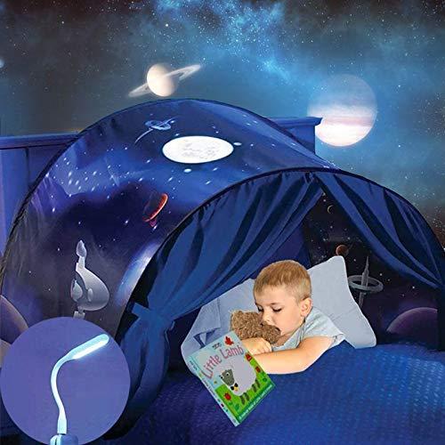 Mgee Kindertent Speeltent Bed Tent Eenhoorn Voor Kinderen, Opvouwbare Indoor Pop-Up Tent Voor Slaapkamerdecoratie…