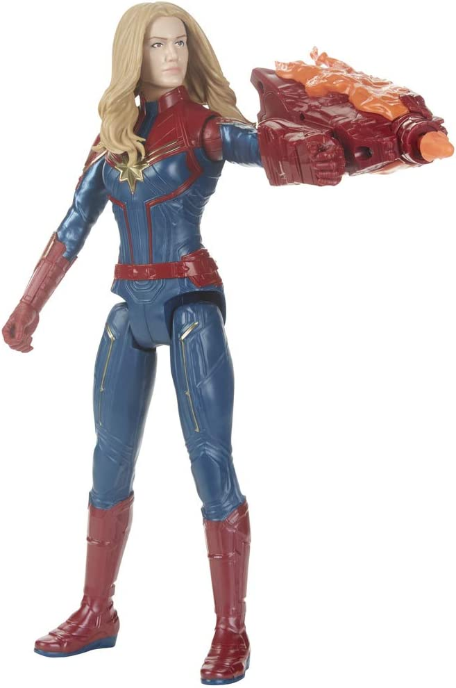 Avengers- Titan Hero FX Figura Capitana Marvel, Multicolor (Hasbro ...