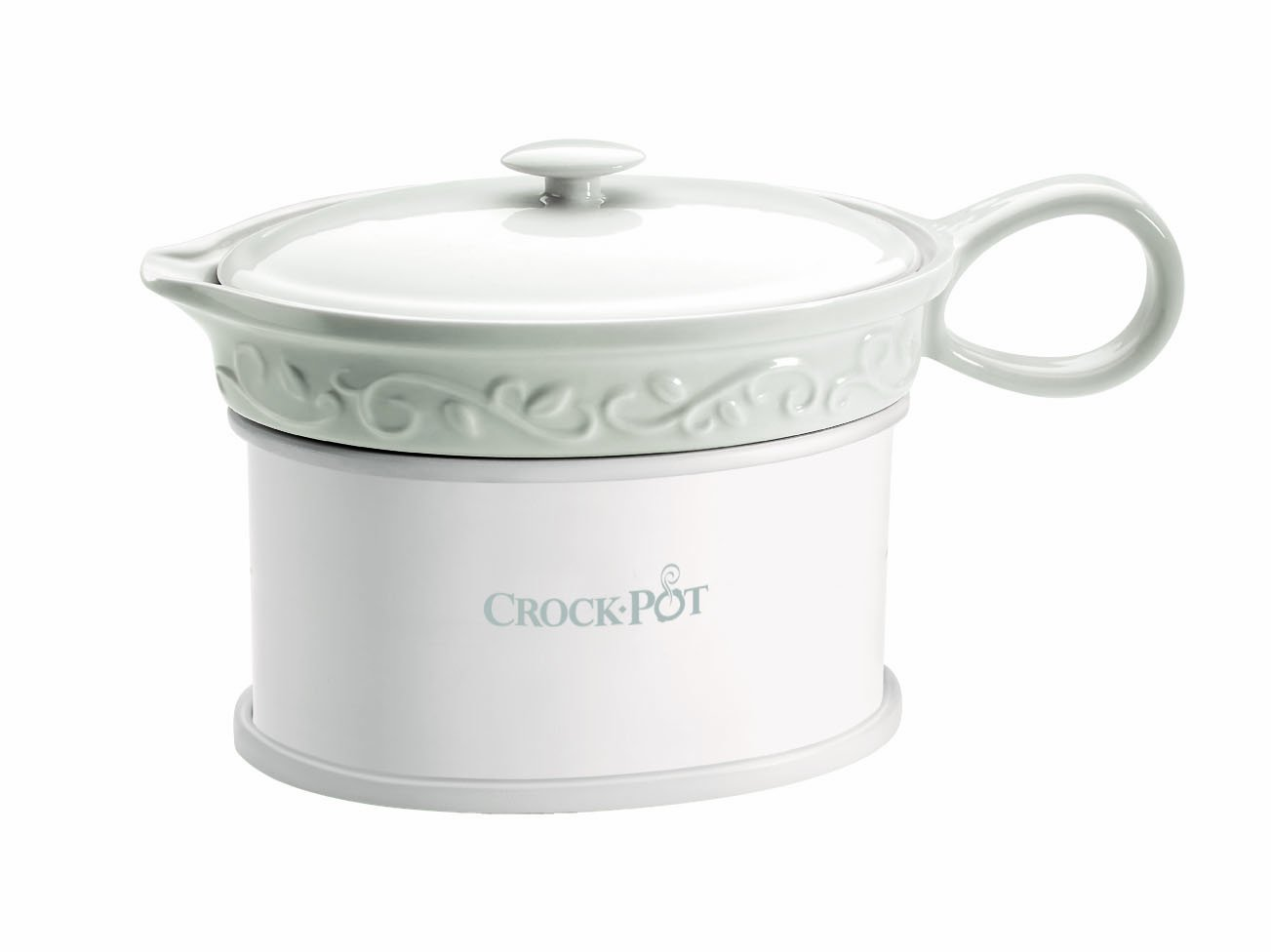 Electric Crock Pot ~ Crock pot sccpvg ounce electric gravy warmer white