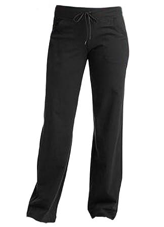 b1a8d2d7553 Women s Reg DriMore Relaxed Pants 32 quot  inseam Black Yoga Fitness Active  ...