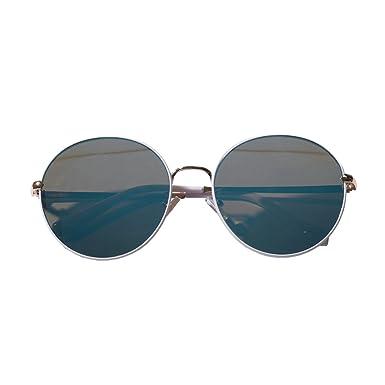 dc7c343ac50f93 Amazon | JOKnet ミラーサングラス レディース ビッグ 眼鏡 めがね メガネ 日焼け対策 UVケア 紫外線対策 紫外線防止 ラウンド  丸型 ホワイト F | サングラス 通販