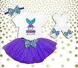 Girl's 4th Birthday Outfit, Mermaid Birthday Shirt, Mermaid 4th Birthday Outfit, Mermaid Birthday Party Outfit, Mermaid Birthday Tutu