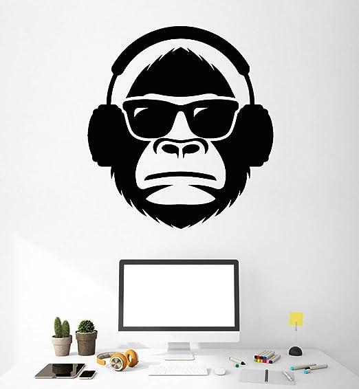 Handaxian Vinilo Arte Diseño Cartel Mural Cabeza En Gafas de ...