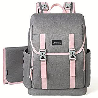 Diaper Bag Backpack,Multifunction Back Pack Maternity Baby Changing Bags for Baby Care (Pink)