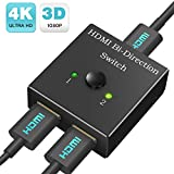 Best HDMI Splitter For HDTVs - HDMI Switch Bi-Directional Switcher 1 In 2 Out Review