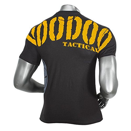 VooDoo Tactical 20-9966001094 Intimidator T-Shirt, Black/Yellow Letters, Large Captain Yellow T-shirt