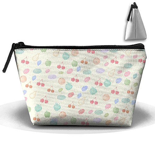 Storage Portable Bag Cosmetic Pouch Cherry Background Large Capacity Make Up Purse Medicine Trapezoid Toiletry - Mall Cherry Creek