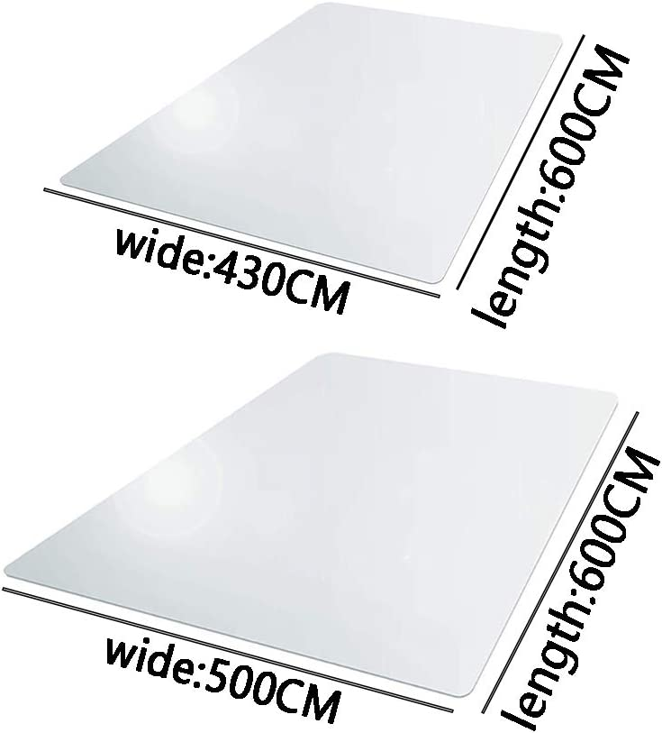 500 600 1.5mm Birmingfive Computer Chair Mat Non Slip Transparent Flexible Floor Protector sy Clean Reduce Noise Carpet Foldable PVC Home Office Scratchproof Wear Resistant Rectangle