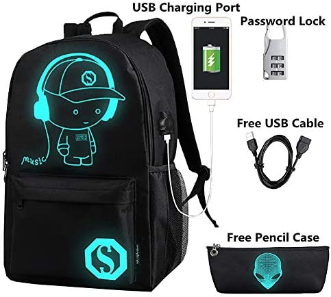 FLYMEI Luminous Backpack Charging Anti theft product image
