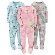Girls' 3-Pack Snug-Fit Footed Cotton Pajamas