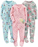 Baby : Simple Joys by Carter's Baby Girls' 3-Pack Snug-Fit Footed Cotton Pajamas, Ballerina/Moon/Bee, 12 Months
