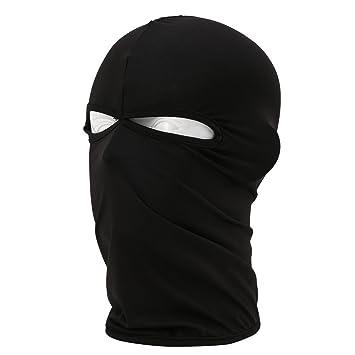 IKuaFly Full Face Balaclava Mask 2 Eyes Holes Lightweight Dustproof Elastic  - Winter Outdoor Sports Motorbike 29e0d151e011