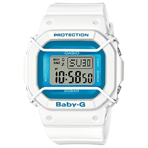Casio Baby-G BGD501FS-7 Silicone Analog Quartz Unisex Watch (Blue / White)