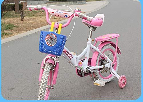 luoshui Ni/ños Cesta de la Bici ni/ños Bicicleta Cesta Delantera Scooter Manillar Bolso Portador Enviromental pl/ástico Cesta de los ni/ños Partes del Ciclo