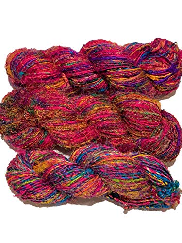 Sari Silk Yarn Pack of 300 Grams / 3 to 4 Skein
