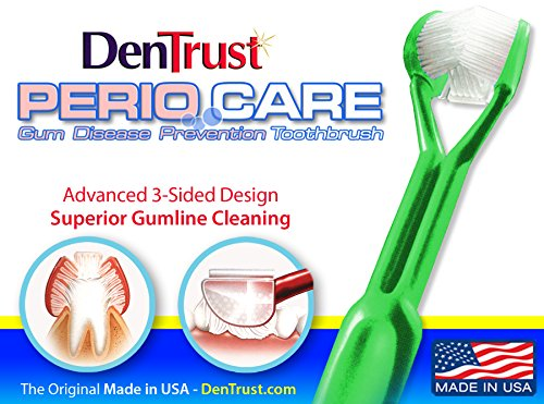 PerioCare Toothbrush : Surround Design : Assure Automatic Clean and Massage for Teeth and Gums
