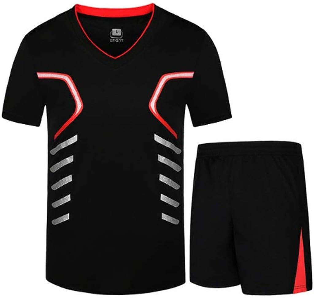 Lilongjiao Sportswear Fitness da Uomo ad Asciugatura Rapida Sportivo Abbigliamento Sportivo Traspirante da 2 Pezzi