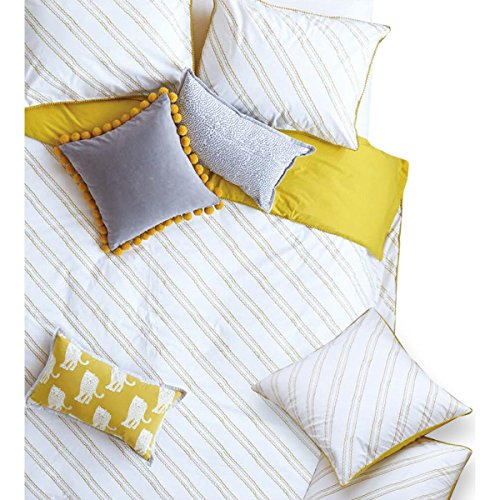 (Jay St. Block Company West Elm Evans Cotton Printed Pillow Sham Yellow Euro)