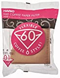 Hario V60 Paper Coffee Filters, Size 01, 100 Count, Natural