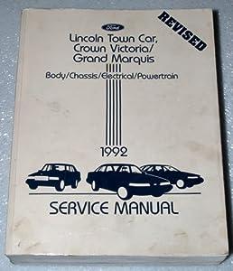 1992 lincoln town car ford crown victoria mercury grand marquis rh amazon com Grand Marquis Owner's Manual 2003 Mercury Marquis Repair Manual