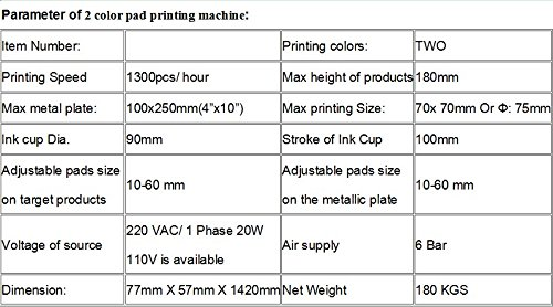 GOWE Precison 2 color pad printing machine with ink cup diameter: 90mm 6