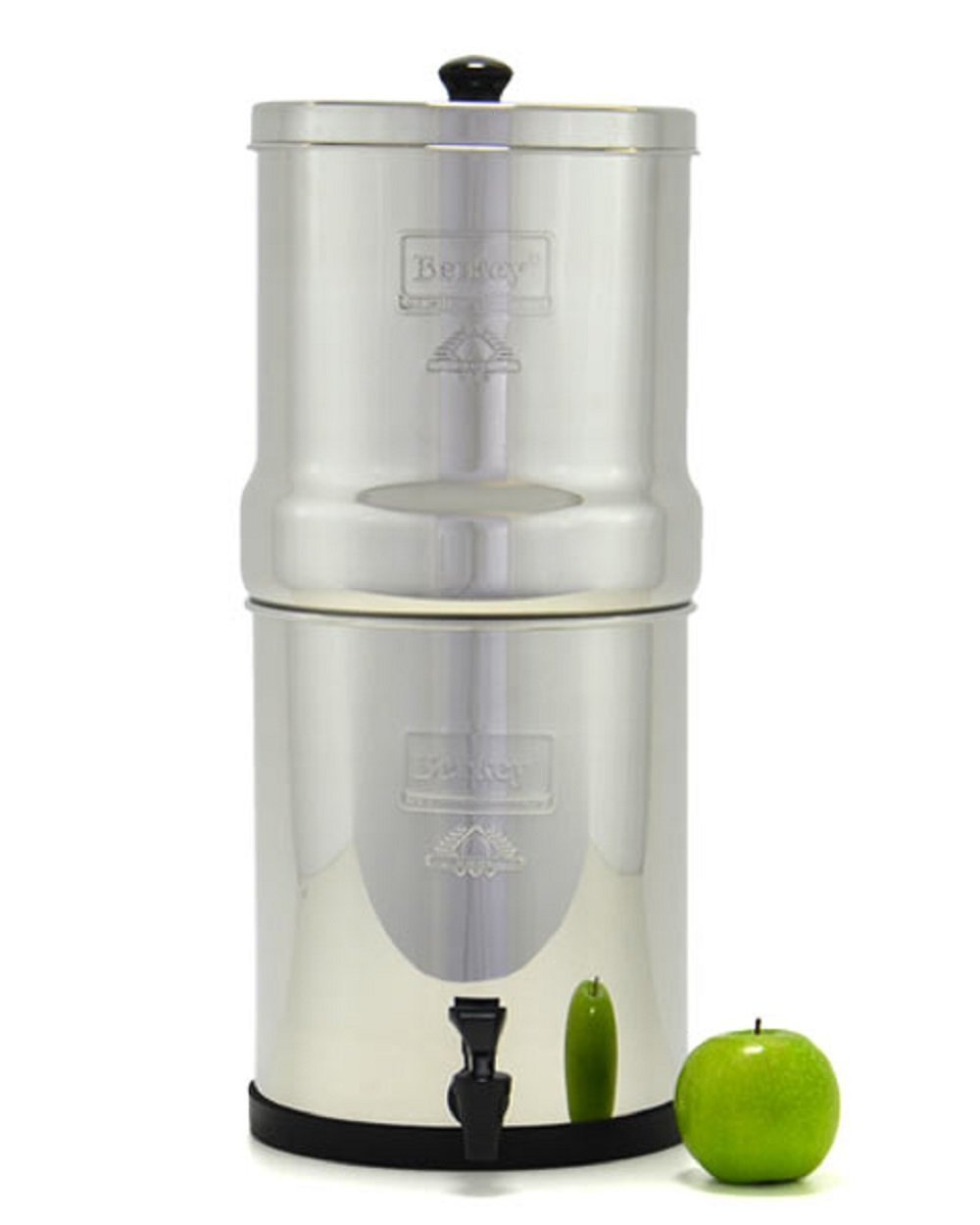 Berkey Water Filter System with 2 Black Berkey Elements and Berkey SG-7.5 Glass Water Level Spigot