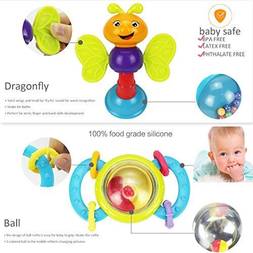 Review 10 Baby Rattles Teether,