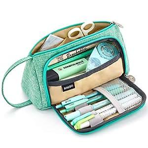 Amazon.com: Gran capacidad lápiz pluma caso estudiante ...