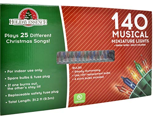 Musical Christmas Lights.Holiday Essence Set Of 140 Indoor Multi Color Musical